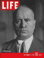 Life Magazine, September 11, 1939 - Benito Mussolini