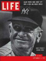Life Magazine, September 14, 1953 - Casey Stengel, baseball