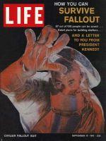 Life Magazine, September 15, 1961 - Fallout shelter