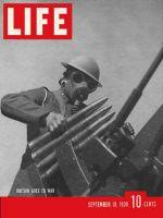 Life Magazine, September 18, 1939 - British gunner