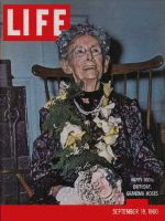 Life Magazine, September 19, 1960 - Grandma Moses at 100