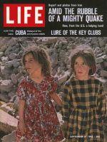 Life Magazine, September 21, 1962 - Two girls in Iran earthquake
