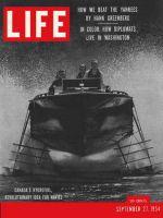 Life Magazine, September 27, 1954 - Hydrofoils, boat