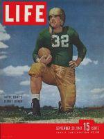 Life Magazine, September 29, 1947 - Notre Dame's Lujack, football