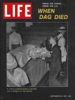 Life Magazine, September 29, 1961 - Hammarskjold's death