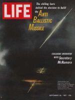 Life Magazine, September 29, 1967 - Antiballistic missile test