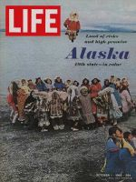 Life Magazine, October 1, 1965 - Eskimo game, Alaska