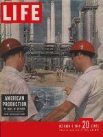 Life Magazine, October 4, 1948 - Two men in Hardhats