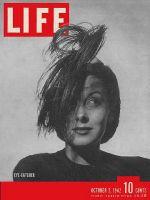 Life Magazine, October 5, 1942 - Eye-catcher hats