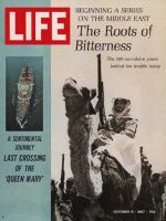 Life Magazine, October 6, 1967 - S.S. Queen Mary and Arab rifleman