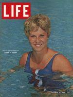 Life Magazine, October 9, 1964 - Donna de Varona swimming