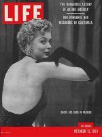 Life Magazine, October 12, 1953 - Bare backs, fashion