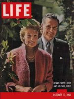 Life Magazine, October 17, 1960 - Henry Cabot Lodge and wife Emily