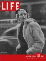 Life Magazine, October 18, 1948 - Woman in fur coat