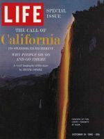 Life Magazine, October 19, 1962 - Yosemite at dusk, California