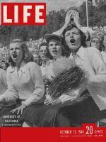 Life Magazine, October 25, 1948 - University of California football fans