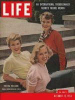 Life Magazine, October 25, 1954 - Big 10 look, fashion