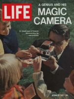 Life Magazine, October 27, 1972 - Dr. Edwin Land with camera