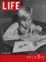 Life Magazine, October 28, 1946 - Boy in school