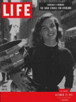 Life Magazine, October 29, 1951 - Television prop girl