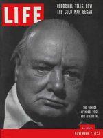 Life Magazine, November 2, 1953 - Nobel winner, Churchill