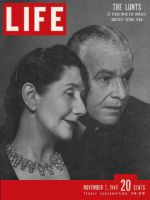 Life Magazine, November 7, 1949 - Fontanne and Lunt