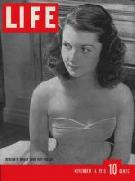 Life Magazine, November 14, 1938 - Brenda Frazier