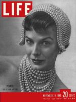 Life Magazine, November 14, 1949 - Pearl fashions