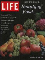 Life Magazine, November 23, 1962 - Food
