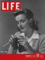 Life Magazine, November 24, 1941 - Wartime knitting