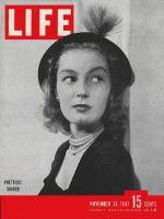 Life Magazine, November 24, 1947 - New York subdebutante