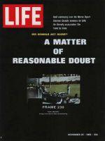Life Magazine, November 25, 1966 - John F. Kennedy assassination film
