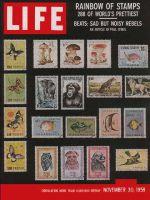 Life Magazine, November 30, 1959 - Prettiest postage, stamps