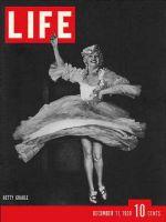 Life Magazine, December 11, 1939 - Betty Grable