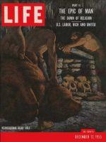 Life Magazine, December 12, 1955 - Dawn of religion