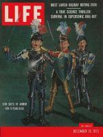 Life Magazine, December 19, 1955 - Boys dressed in armor