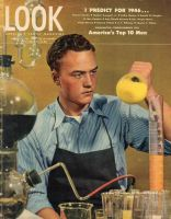 Look Magazine, January 8, 1946 - High School Senior Tom Bergstedt in the lab