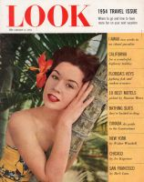 Look Magazine, January 12, 1954 - Lovely lady with a flower in her hair, in Hawaii, Pat Crowley