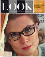 Look Magazine, February 12, 1963 - Princess Grace wearing eyeglasses