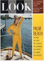 Look Magazine, February 13, 1962 - Woman in yellow on deck of boat