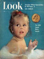 Look Magazine, February 17, 1948 - Child in bubble bath