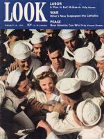 Look Magazine, February 24,1942 - Elyse Knox surrounded by a group of sailors