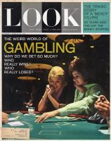 Look Magazine, March 12, 1963 - Two women gambling, blackjack