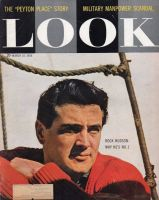 Look Magazine, March 18, 1958 - Rock Hudson in a red sweater
