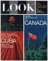 Look Magazine, April 9, 1963 - Castro and Canadian flag