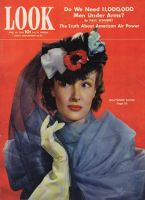 Look Magazine, April 20, 1943 - Woman in striking Easter hat