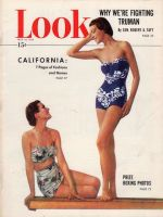 Look Magazine, May 10, 1949 - Two women in handsome new bathing suits