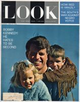 Look Magazine, May 21, 1963 - Bobby Kennedy and his two kids