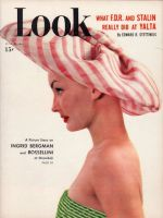 Look Magazine, June 21, 1949 - Debutante Kit Curran in a hat by John Frederics