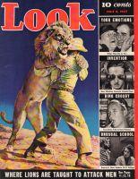 Look Magazine, July 6, 1937 - Stunt Lions